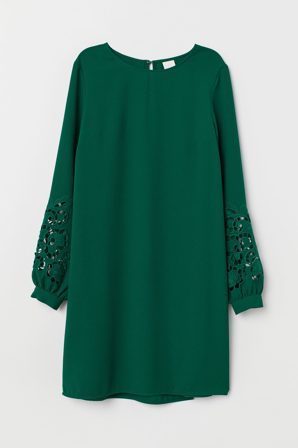 H&M: Lace-Sleeved Short Dress
