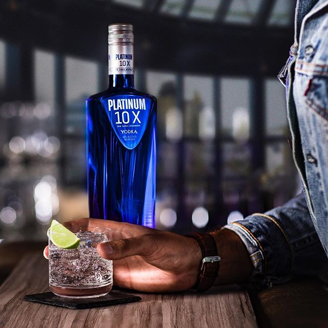 We've been looking forward to this one all day. #platinum10x #vodka -- Platinum Tonic  1 part Platinum 10X Top off with tonic water Garnish with lime wedge