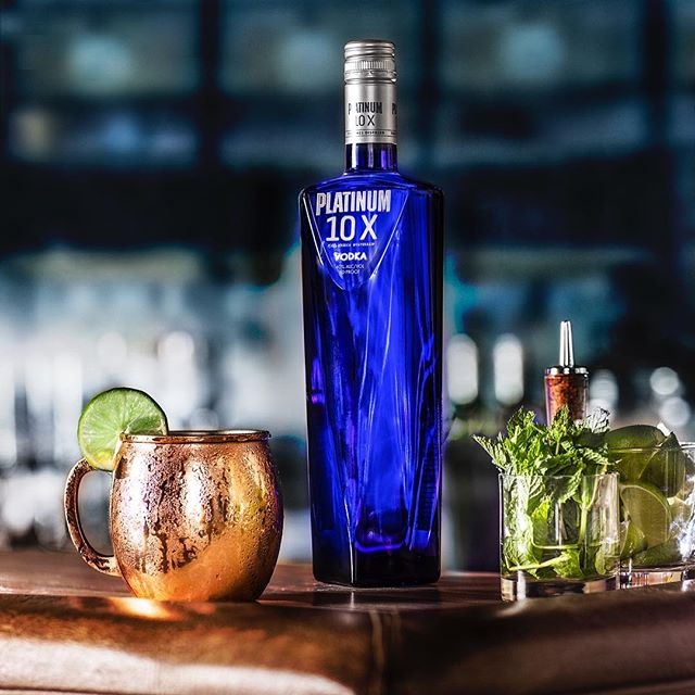 Turn your mule up 10 notches. -- 10X Mule  1 part Platinum 10X 3 parts ginger beer Spritz of lime juice