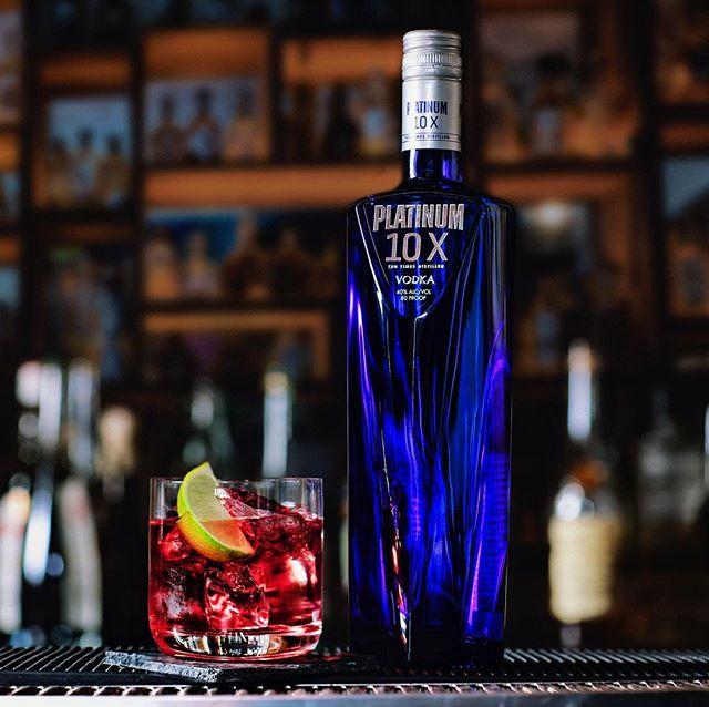 Make an escape to Cape Cod. #Platinum10X #vodka #cocktails -- Cape Cod  One part Platinum 10X  Two parts cranberry juice  Garnish with lime wedge