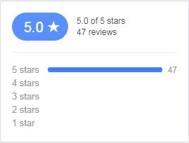 5/5 Stars on Facebook and Google!!