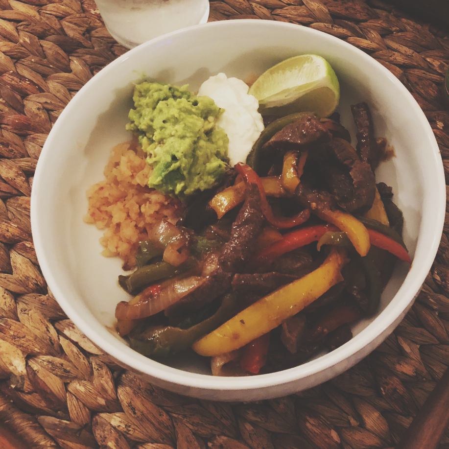 Fajita Bowl with Stir-Fry Meat