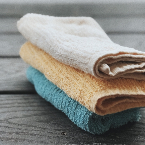 Find all the disposable items in your kitchen and try to figure out ways to use sustainable products instead. Swap your paper towels and dish sponges out for these versatile, washable, completely biodegradable cellulose  rags . Pro-tip: microwave 1 minute or otherwise sanitize them once a week, and always squeeze out excess water between uses to maximize their lifetime. Stock up on thrift store rags or organic cotton cloths to replace the  napkins  in your life. I use  Borax  (which comes in recyclable cardboard) to get dirty rags super clean.