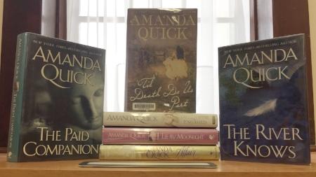 Just a few Library copies of Amanda Quick's best novels.