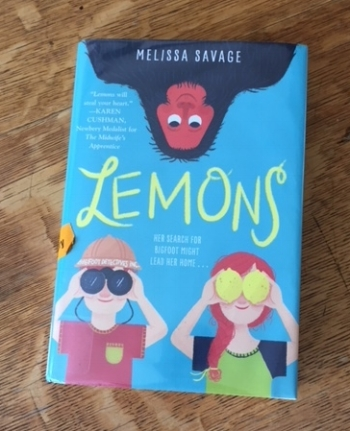 Library copy of the incredibly touching,  Lemons  by Melissa Savage