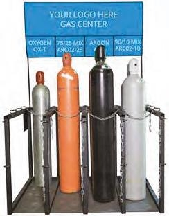 KnowGas gas center - the first ever, patent pending, expandable cylinder kiosk