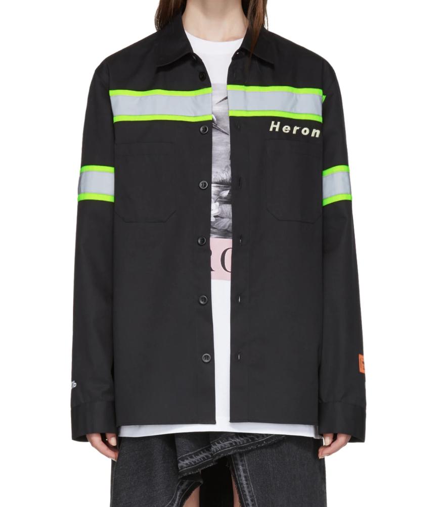 Heron PrestonBlack Reflective Shirt Jacket - (405€)