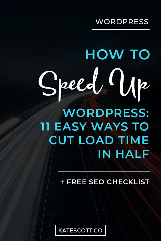 Does your Wordpress site load at the speed of a snail? A slow-loading site could hurt your bottom line. Here are 11 easy ways to optimize your site and cut your load time in half >> bit.ly/wordpressspeed | Wordpress Speed Optimization | Wordpress Tips and Tricks | Site Speed Optimization | SEO Tips for Bloggers | Website Speed Wordpress | Wordpress Help | #Bloggers #Blogging #Wordpress