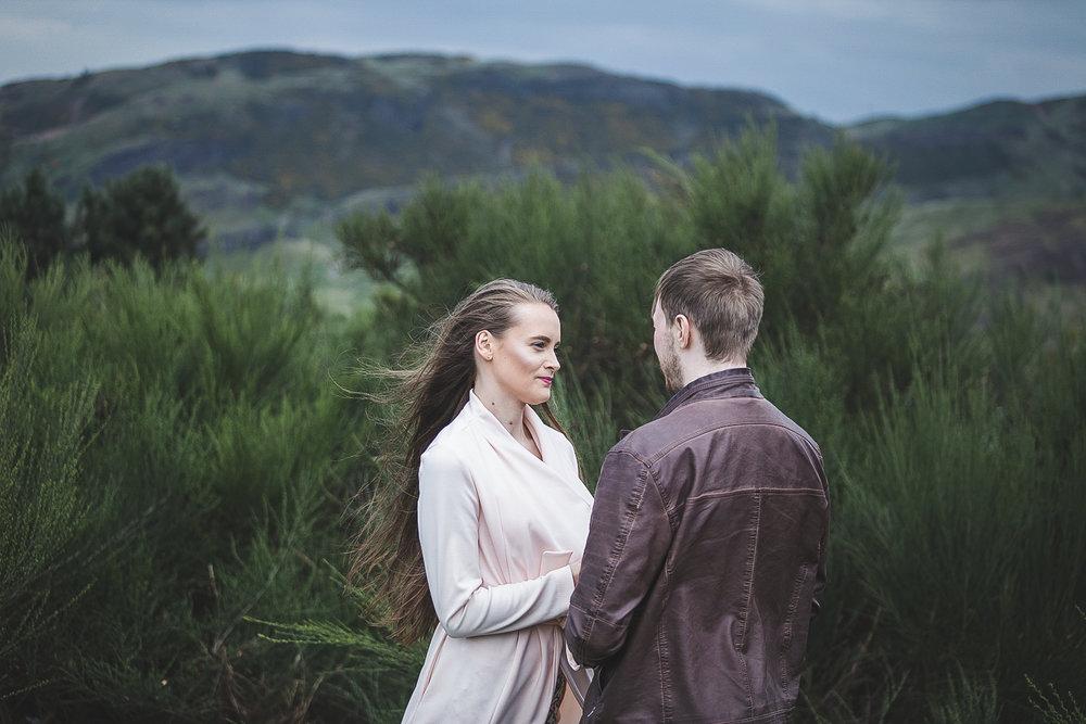 EITHNE & CAMERON - Engagement Photoshoot at Calton Hill and Arthur's Seat, Edinburgh, Scotland