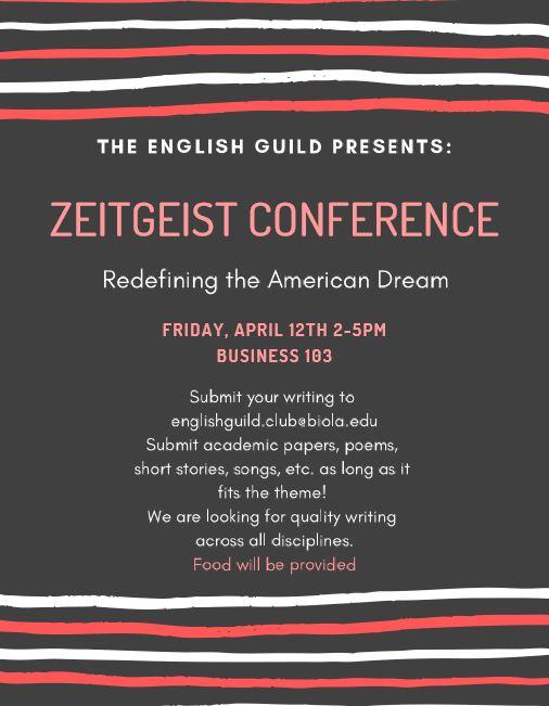Zeitgeist Conference 2019 — Biola English