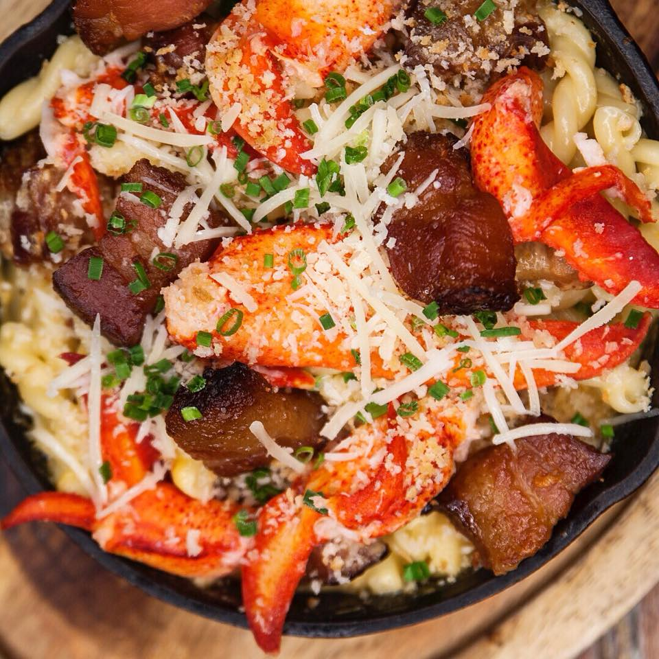 lobster night!Every monday night enjoy bacon lobster mac n cheese and bacon lobster rolls! -