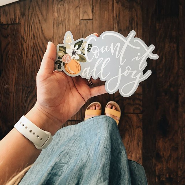 Count it all joy. ⁣ ⁣ I have learned that the moments where your joy seems few + far between, Jesus shows you what true joy actually is. ⁣ ⁣ This summer we don't want to just slap a cute phrase on a few products + hope it sticks. We want you to truly dig into the word of God and when you question J O Y - His word will remind you what counting it all joy looks like! ⁣ ⁣ Excited for these car magnets to join our summer collection + to share more of our heart behind it.