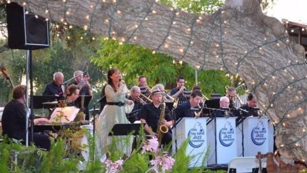 The Big Band Jazz Machine, which was formed in 1979 by Ira B. Liss, will perform at the Handlery Hotel's Terrace Garden. It features singer Janet Hammer. (Courtesy photo)