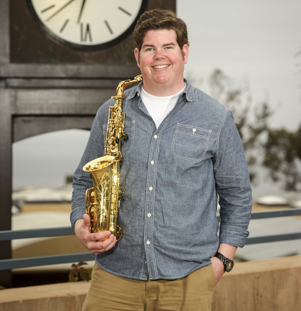 "Tyler Richardson - ALTO & SOPRANO SAX, FLUTE, and CLARINETBorn in San Diego, saxophonist Tyler Richardson attended San Diego State University where he earned his Bachelor's Degree in Saxophone Performance in 2006. In 2008, Tyler completed his Master's Degree in Jazz Studies from San Diego State University. Tyler has studied with saxophonists: Lee Elderton, Jay Easton, Douglas Masek, Todd Rewoldt, John Rekevics and Christopher Hollyday.Tyler has been performing professionally throughout San Diego for 10 years. He has performed in several different Big Bands with renowned artists: Eric Marienthal, Bernie Dresel, Gilbert Castellanos and Charles McPherson. Tyler has worked with the San Diego Musical Theatre, Lamb's Players Theatre, and Moonlight Stage Productions performing in several musicals at the Moonlight Amphitheatre in Vista and the Lyceum in Downtown San Diego. Tyler has performed in the musicals: ""Ain't Misbehavin': The Fats Waller Show,"" ""Cabaret,"" ""Dream Girls,"" ""American Rhythm,"" ""Annie"" and ""Guys and Dolls."" Tyler currently performs with the Ira B. Liss Big Band Jazz Machine and the Jazz Project Big Band. Along with performing Tyler maintains a private teaching studio for students of saxophone, clarinet, flute and piano."