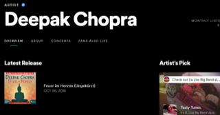 Artist Pick - Deepak Chopra