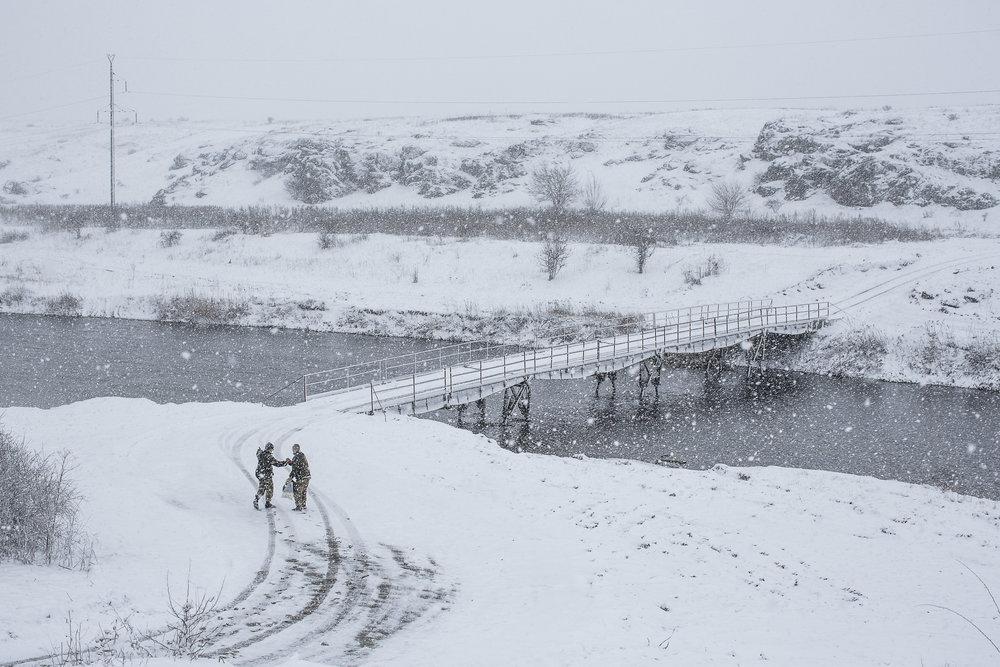 Brendan Hoffman,  Soldiers in the Snow , 2016, Digital photograph.