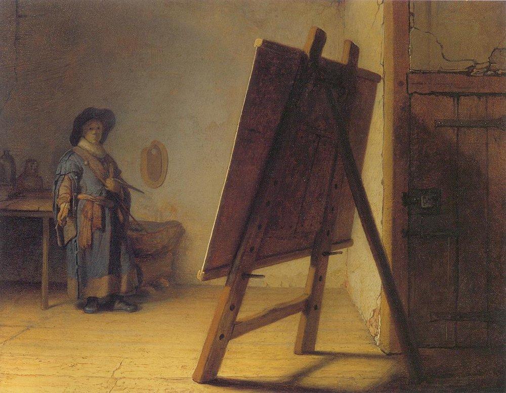 rembrandt-painter-in-studio