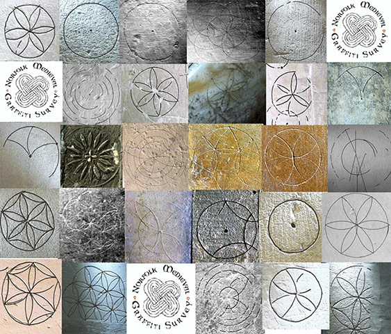 Compass drawn designs