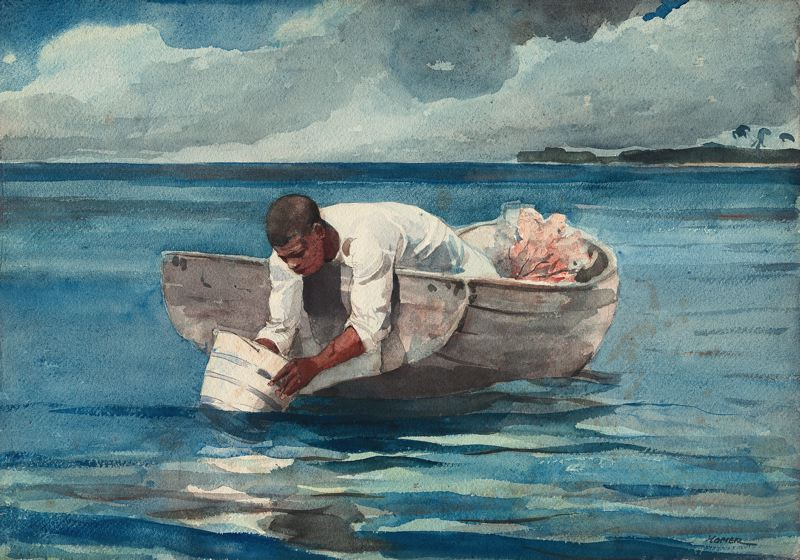 Water Fan Winslow Homer