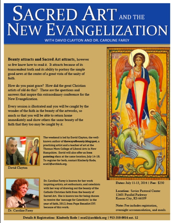 Sacred Art and New Evangelization Flyer  copy