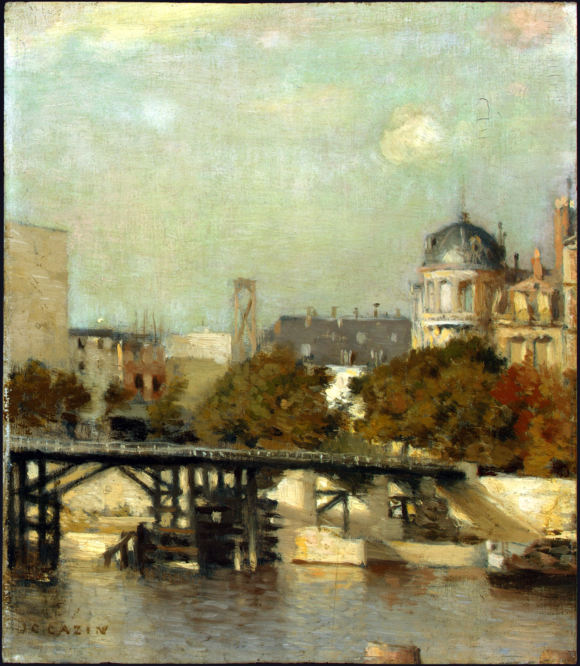 Cazin.Paris_Scene_with_Bridge,_Jean-Charles_Cazin