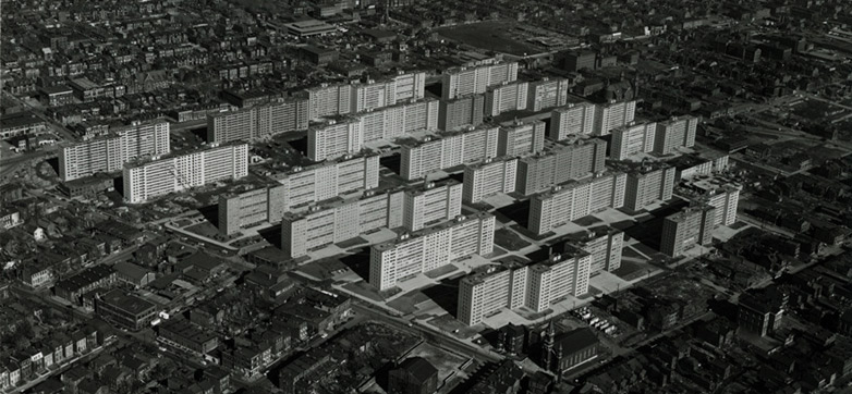 while few wanted even to walk close to this 20th century mass housing, let alone live there, even a decade after it was built?   -