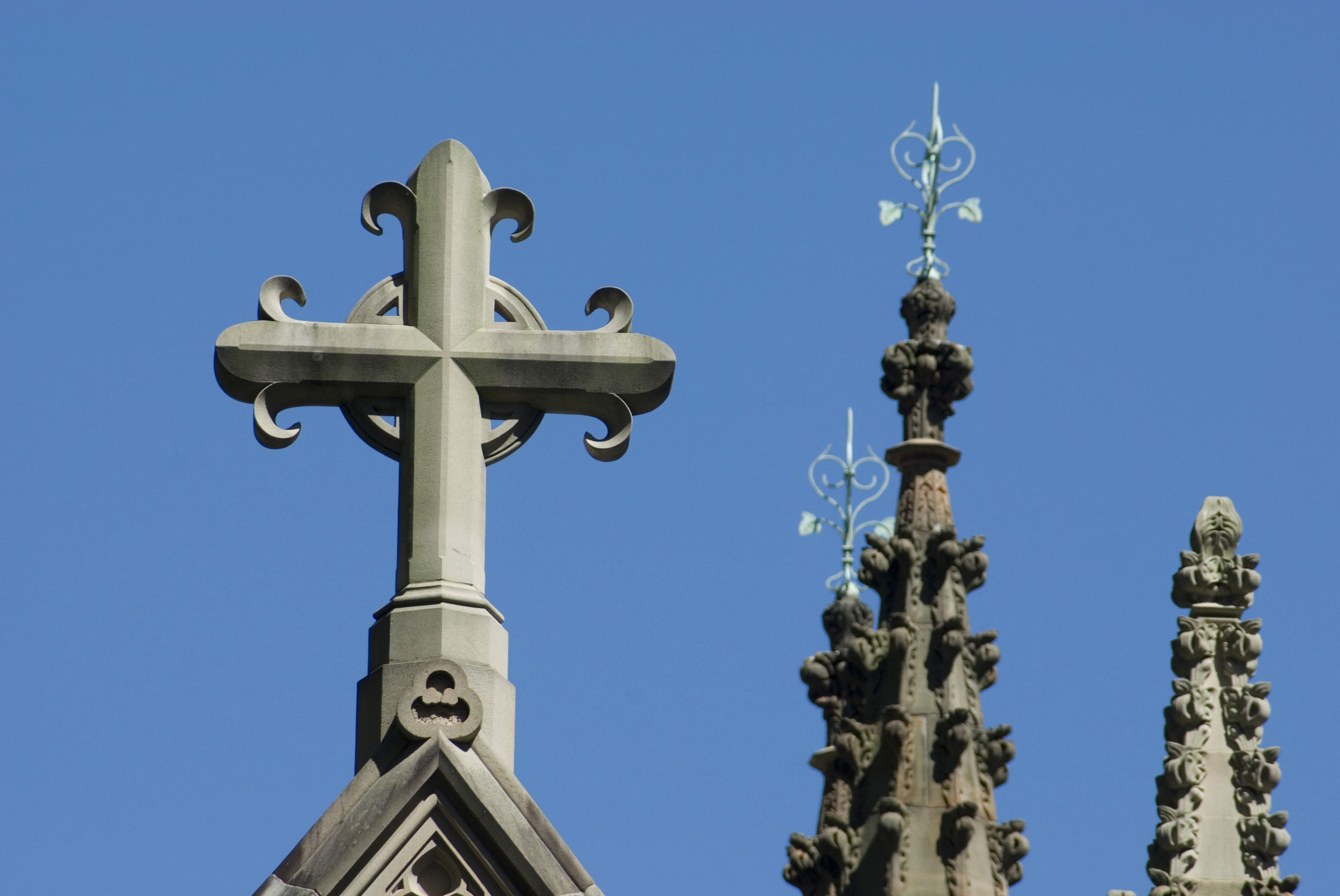 Cross And Church Spires