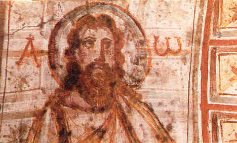 picture-of-Jesus_300s, catacomb