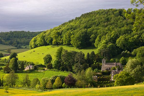 Cotswolds Idyllic Rural Landscape, England