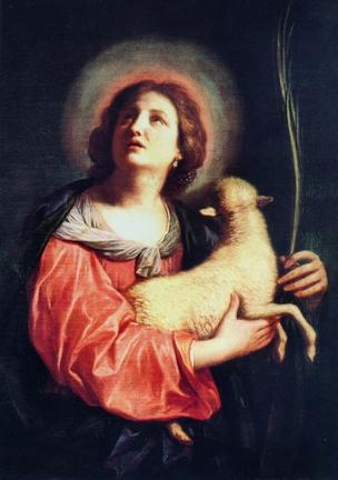 St Agnes, by Alonso Berruguete