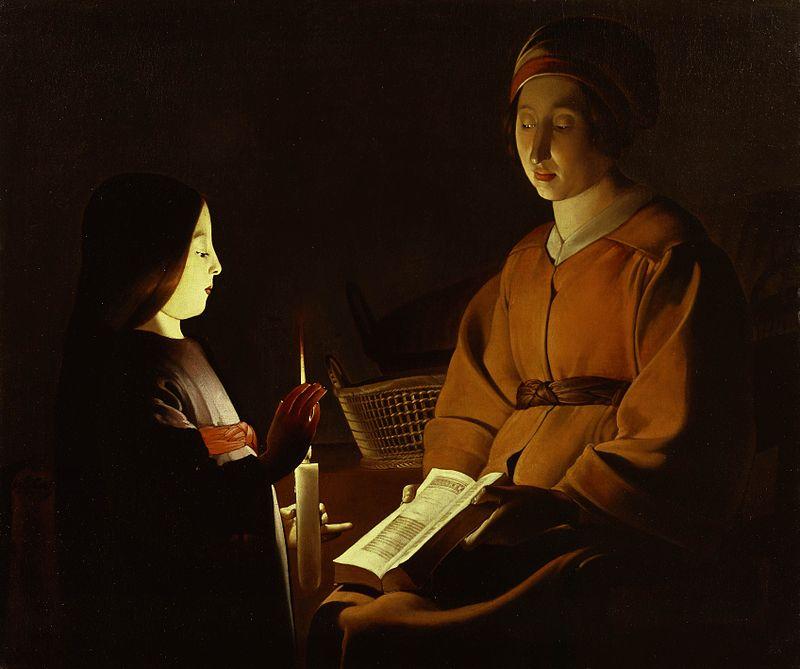 The Education of the Virgin by George de La Tour
