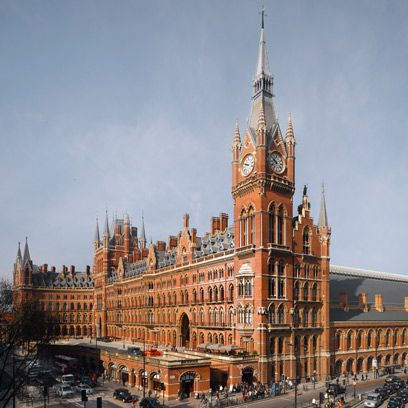 St Pancras Station Hotel, London, exterior
