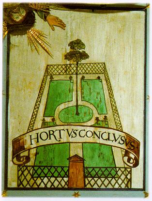 Hortus Conclusus, 'A Garden Enclosed', Illuminated manuscript, gothic, anonymous