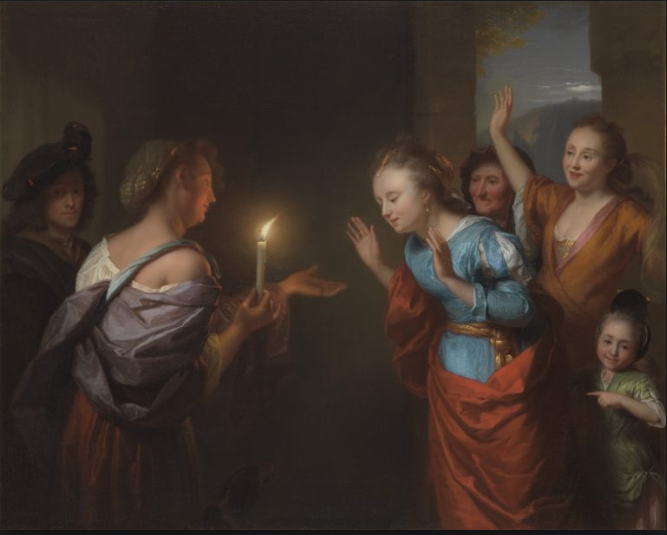 The Parable Of The Lost Piece Of Silver  by Godfried Schalcken