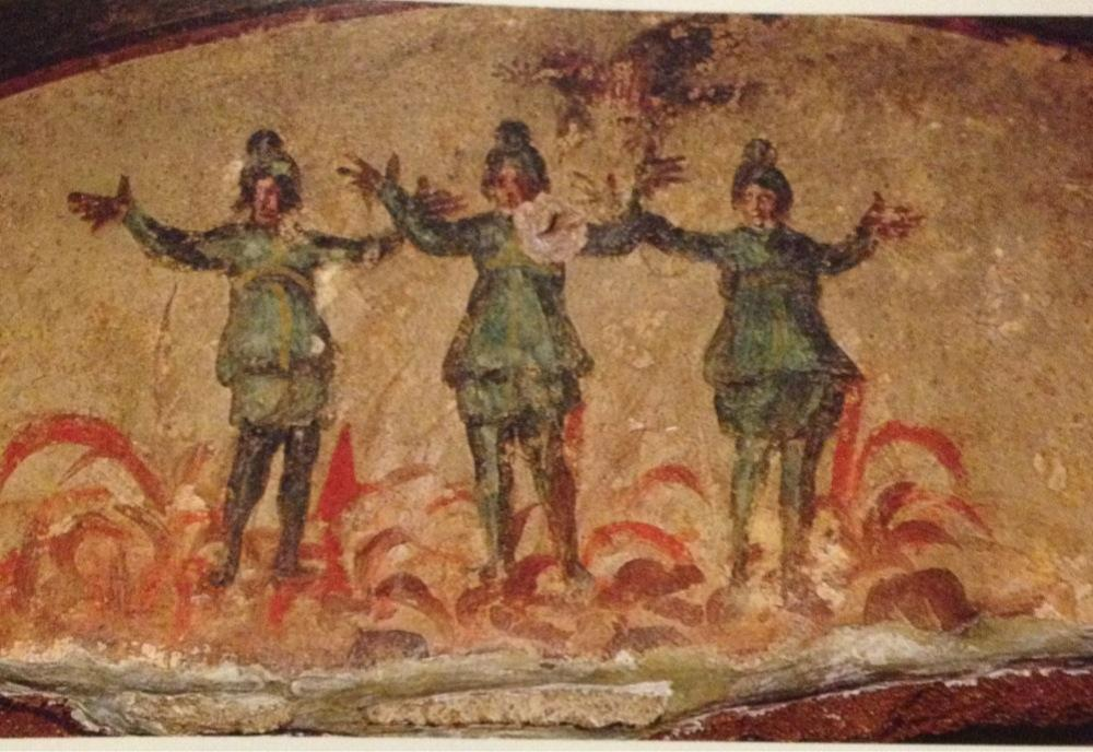 The fresco from the Catacombs which is in the Catechism of the Catholic Church