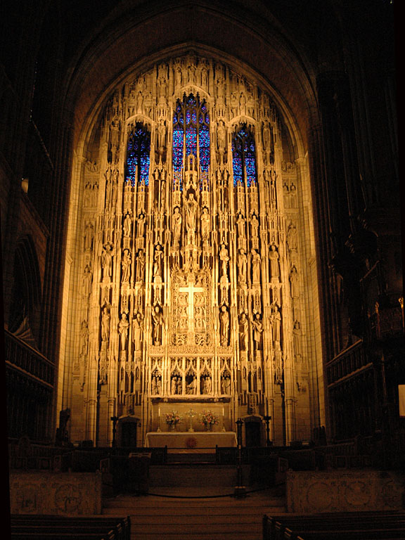 St Thomas Church, NYC, reredos by Lee Lawrie.