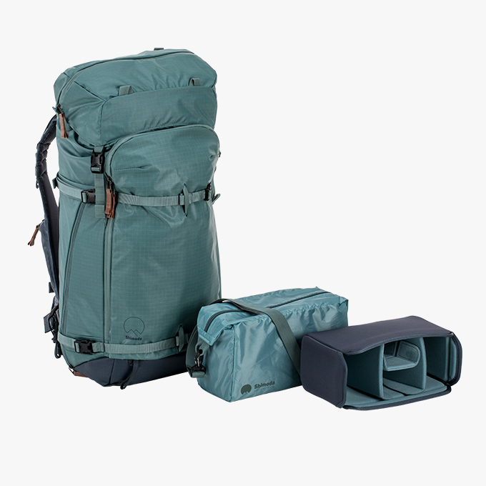Explore Starter Kit - 1x Explore 40 or 60 Backpack2x Small Core UnitsAll Shimoda products come with a 5-year warranty