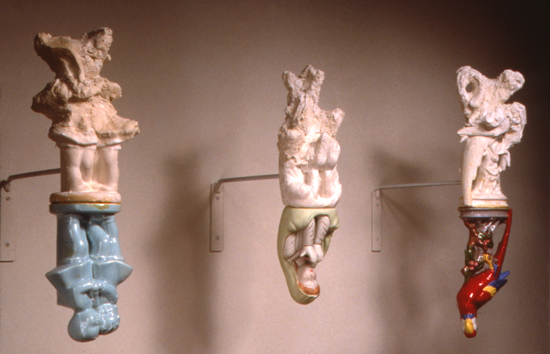 REFLECTIONS (1999) / Ceramic object, Level Best®, 18 x 22 x 13""