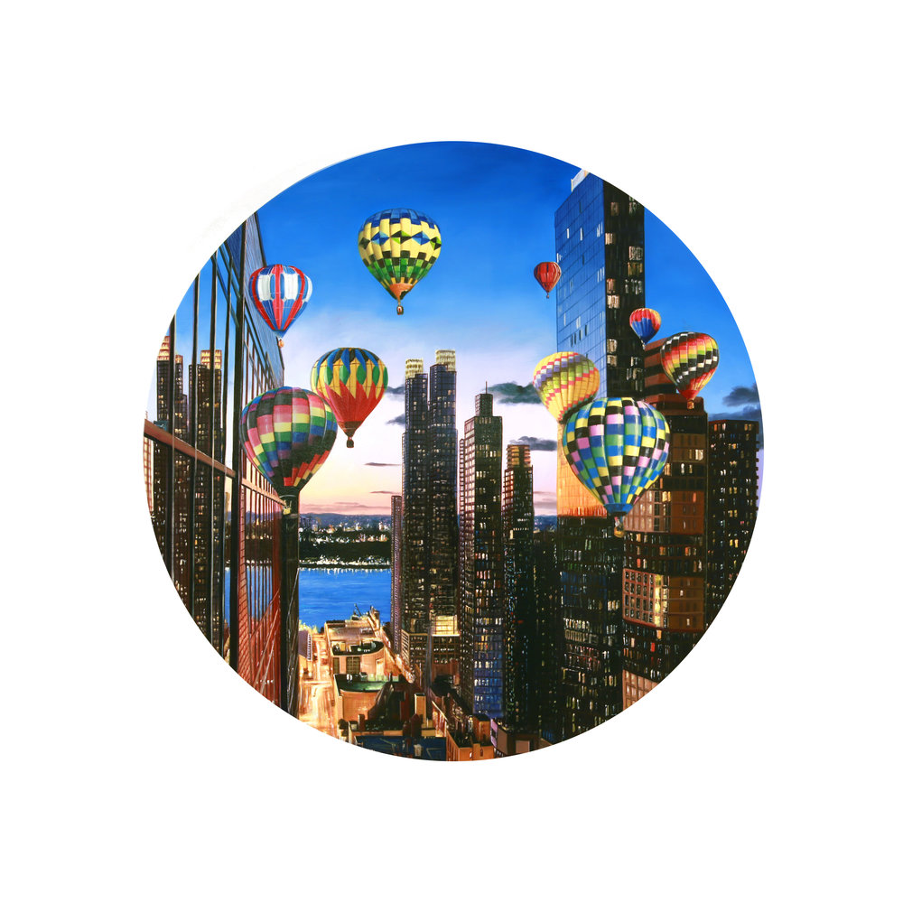 Kun, Lift Off, Hot Air Balloons New York City Hudson River View 6.jpg