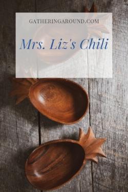 Mrs. LIz's Chili