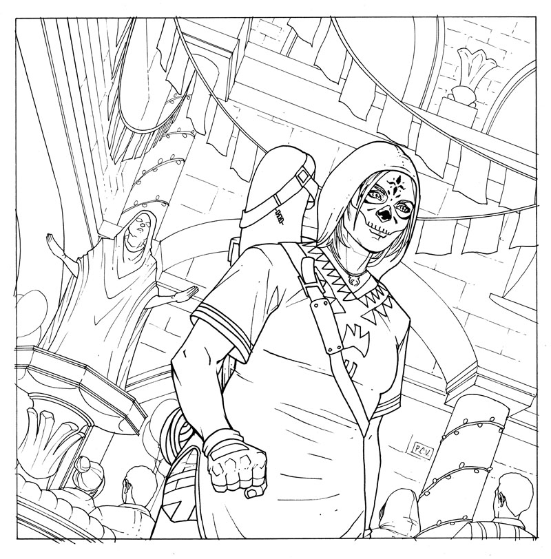 Shadow Of The Tomb Raider Coloring Book Page — The Art Of Phillip Sevy