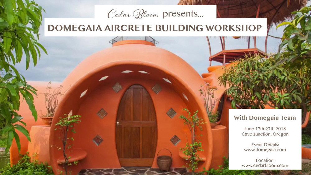 Domegaia Workshop — Cedar Bloom