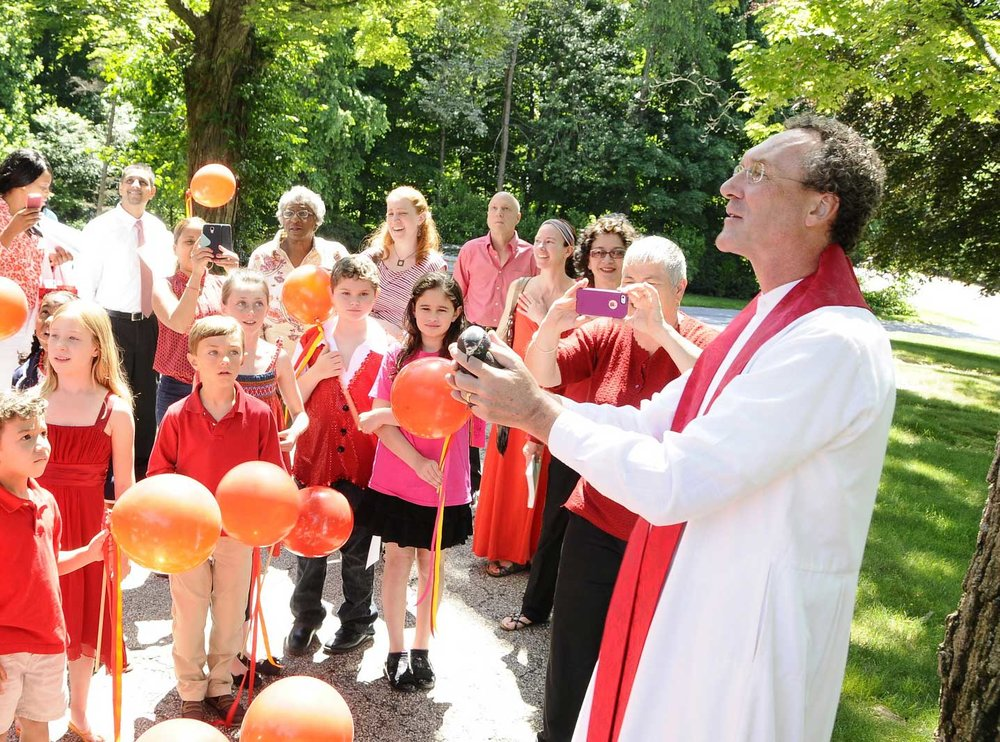 Releasing a dove on Pentecost