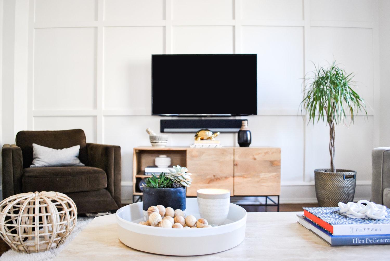 An Easy Diy Paneled Focal Wall In A Weekend Sharp Grey Interiors