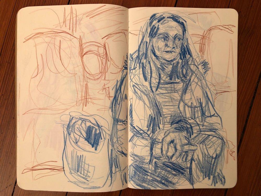 Katie on the Train / NY