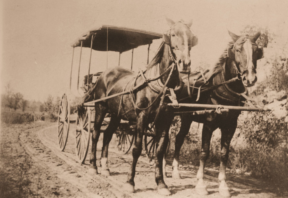 This stagecoach ran between Baraboo and Sauk City, about 15 miles