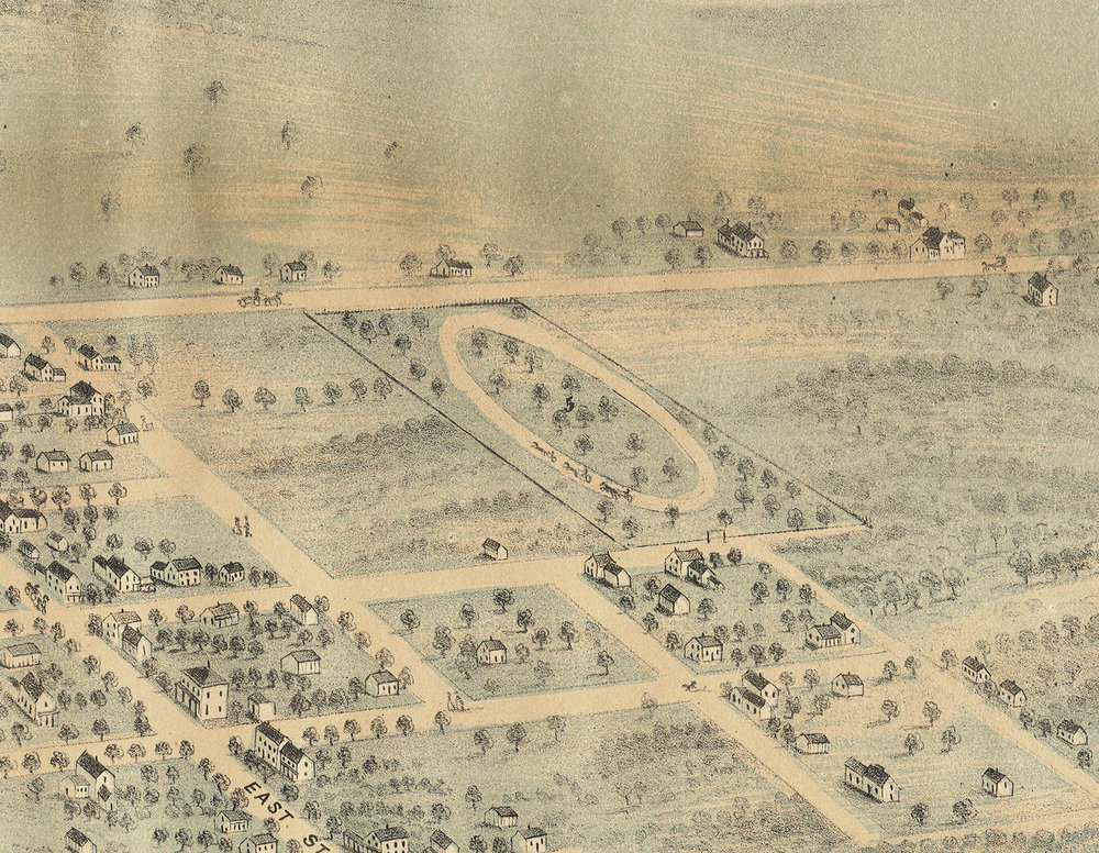 The racetrack may have been similar to this later track at the fairgrounds