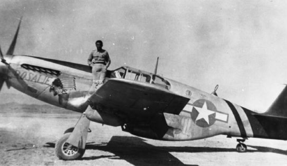 J osh Sanford with his P40 Warhawk 1942 - 1946