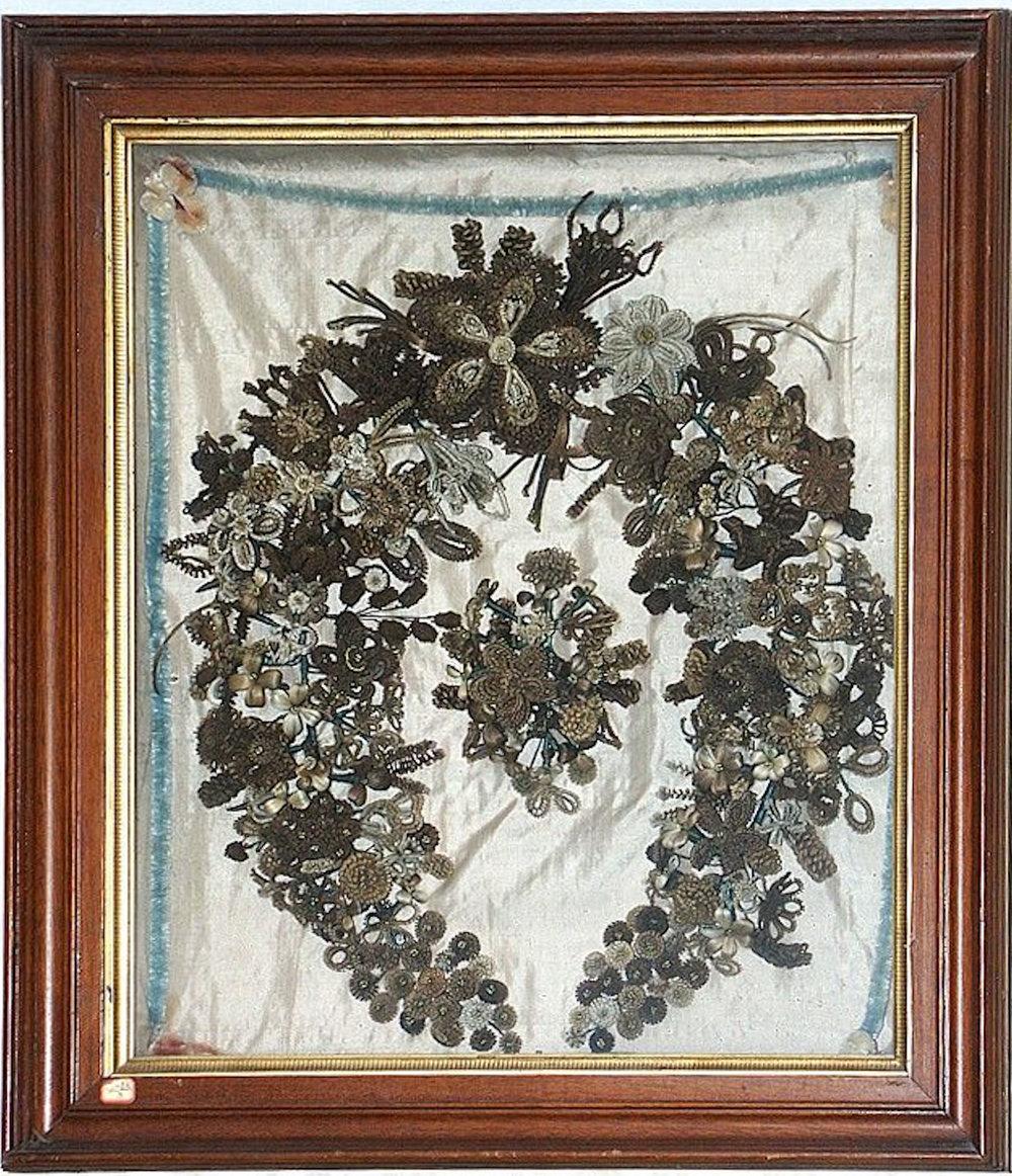 Sauk Co Historical Society Hair Wreath