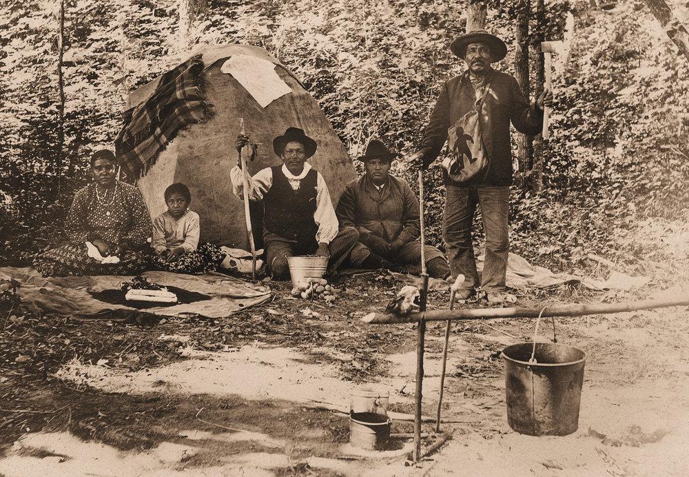 Winnebago camp in Sauk Co.